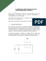 Prueba de Rigidez Dielectrica (Aceite Del Transformador)