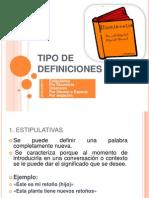Definiciones y Descripciones