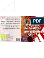 Workshop de Produção Rita Rico - flyer | Casa de Dramaturgia Carioca