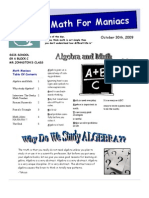 Math Maniacs Issue #1 Web Publication (Read-Only
