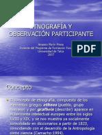 ETNOGRAF%CDA Y OBSERVACI%D3N PARTICIPANTE.ppt