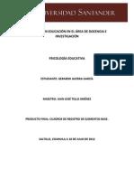 Psicología Educativa - Gerardo Guerra