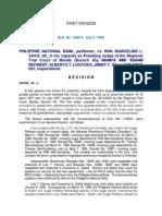 PNB vs Sayo Jr 129918 ; July 9, 1998 J. Davide, Jr. First Division