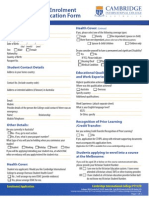 Cic Australia Forms 2014 Student Enrolment Form 0