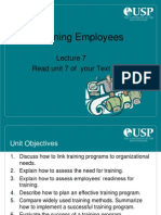 Lecture 7 - Training Employees
