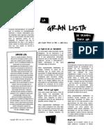 La Gran Lista de Tramas Para JdR