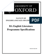 Oxford(1), Programme Specifications ELL 2013
