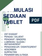 2. Formulasi Sediaan Tablet