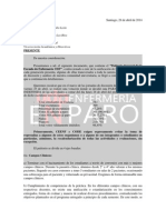 Petitorio Escuela de Enfermería UDP 2014