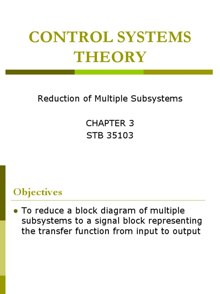 Control Chap 3 Mathematical Relations Applied Mathematics Reduction Of Block Diagrams In Systems