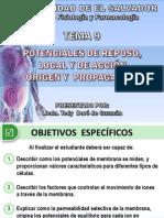 TEMA 9 Potencial de Membrana 2014 PDF