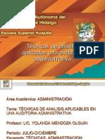 Tecnicas de Analisis Aplicables en Una Auditoria Administrativa