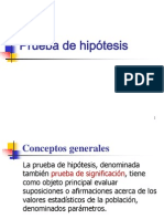 Prueba de Hipótesis (2)