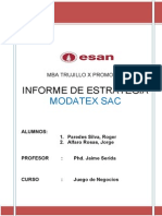 Informe de Estrategia Modatex