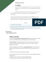 HTML short intro
