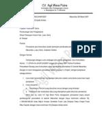Contoh Surat Penawaran Konsultan