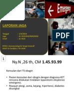 Laporan Jaga 1 April 2014