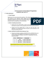 Scholarship and Fee Concession for Fd Programme
