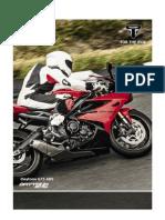 2013 Triumph Daytona 675 Abs Brochure in Dutch