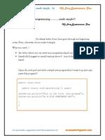 First Program in Java