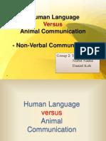 Human Language vs Animal Communication(Group 2)