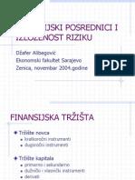 Finansijski Posrednici i Izlozenost Riziku