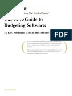 Centage Budgeting Software Whitepaper