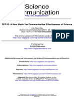 A New Model for Communicative Effectiveness of Science