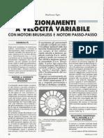 Azionamenti a Velocit Variabile Con Motori Brushless e Motori Passo-Passo