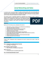 Professional Networking and Sales