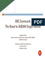 Aladdin Rillo Aec Scorecard the Road to Asean Single Market