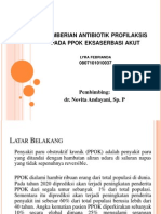 Pemberian Antibiotik Profilaksis Pada Ppok Eksaserbasi Akut