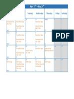 week beginning april 27th