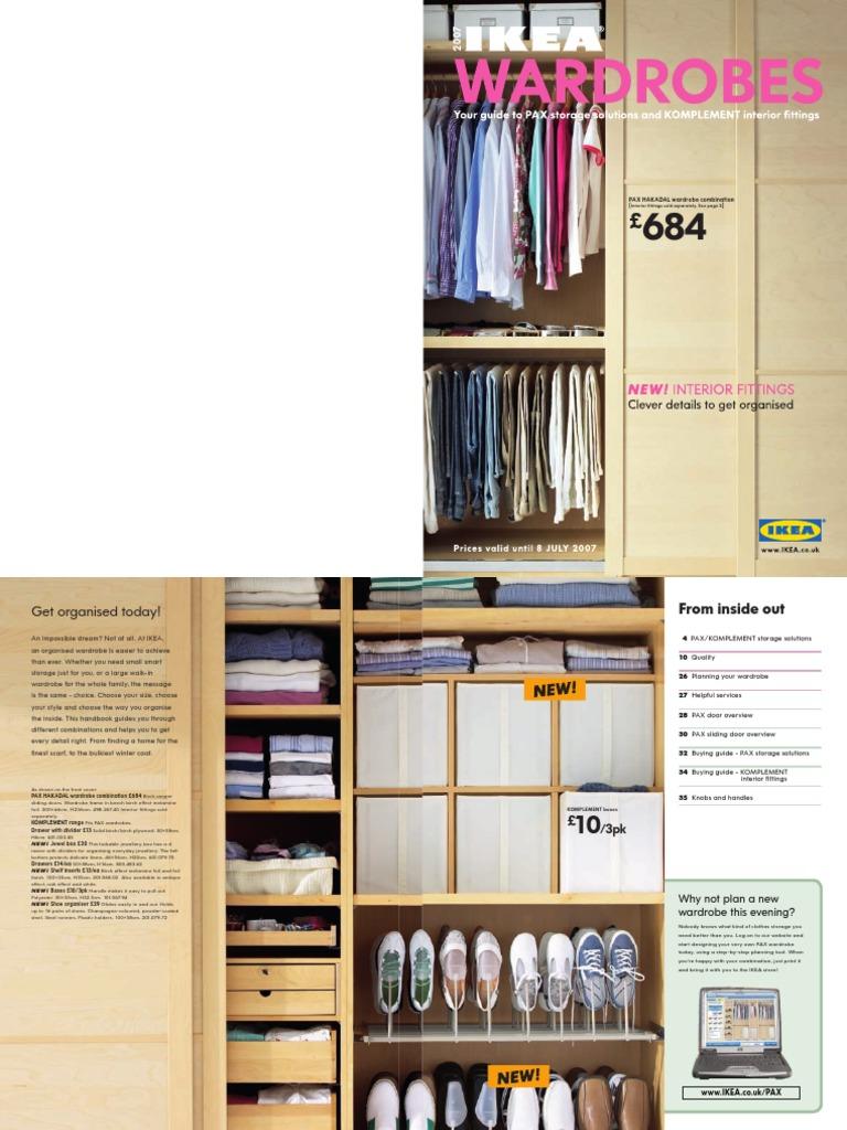 sc 1 st  Scribd & IKEA Wardrobes Catalogue January 2007 | Cabinetry | Door