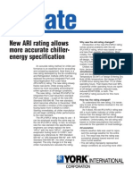 New ARI Rating Allows More Accurate Chiller-Energy Specification