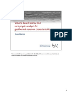 Volume-based seismic and rock physics analysis for geothermal reservoir characterization