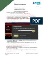 Aztech HL113E Firmware Upgrade Instructions V1.0