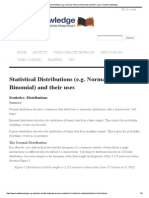 Statistical Distributions (e.g