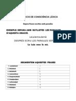 Exerccicis de Conciencia Lèxica