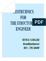 Geotechnics for the Structural Engineer