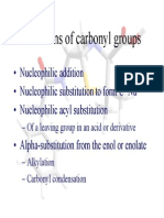 Reactions of Carbonyl Groups