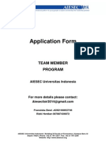 AIESEC Team Member Form