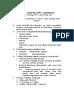 CaKul Pediatri - Gizi