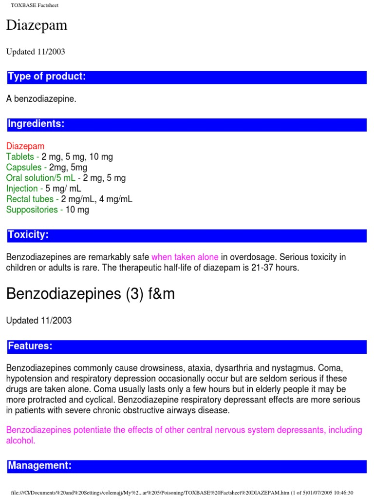 can diazepam cause respiratory depression