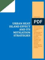 A Report on Urban Heat Island Effect