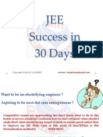 JEE Success in 30 Days
