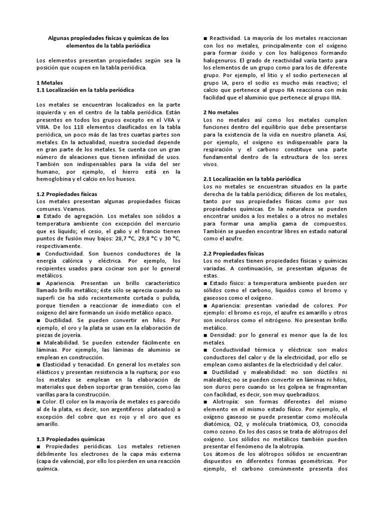 Propiedades fsicas y qumicas de los elementos de la tabla peridica urtaz Image collections