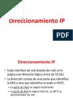 Direccionamiento IP Subneteo
