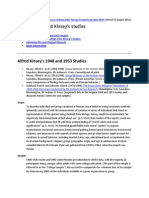 Kinsey Research Summary Updated - August 2012