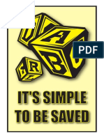 Its Simple to Be Saved